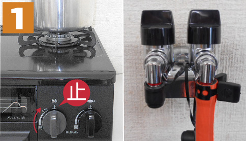 LPガス用メーターの復帰方法